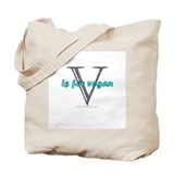 V is for vegan (canvas tote)