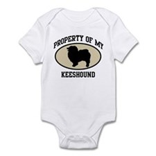 Property of Keeshound Infant Bodysuit