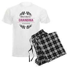 World's Greatest Grandma Cust Pajamas