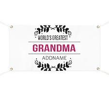 World's Greatest Grandma Custom Name Banner