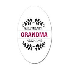 World's Greatest Grandma Cus 35x21 Oval Wall Decal