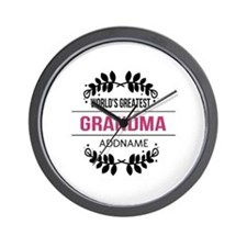 World's Greatest Grandma Custom Name Wall Clock