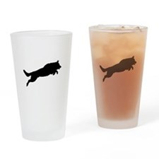 Funny Dog play Drinking Glass