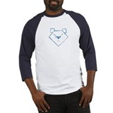 Blue Anime Bear Baseball Jersey
