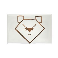 Brown Anime Bear Rectangle Magnet