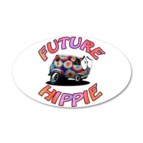 Future Hippie 35x21 Oval Wall Decal