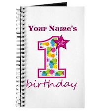 1st Birthday Splat - Personalized Journal