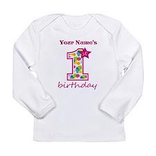 1st Birthday Splat - Pe Long Sleeve Infant T-Shirt