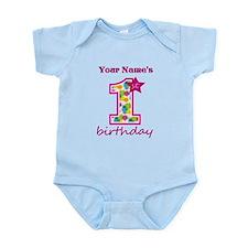 1st Birthday Splat - Personalized Infant Bodysuit