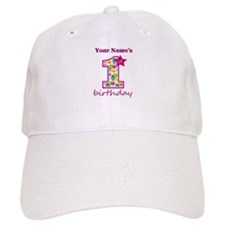 1st Birthday Splat - Personalized Baseball Cap