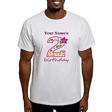 2nd Birthday Splat - Personalized T-Shirt