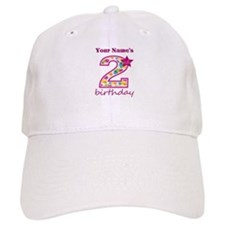 2nd Birthday Splat - Personalized Baseball Cap