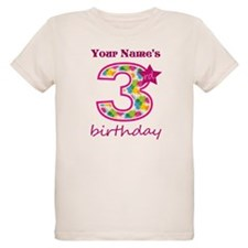 3rd Birthday Splat - Personal T-Shirt