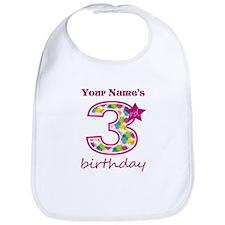 3rd Birthday Splat - Personalized Bib