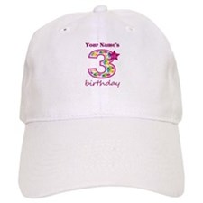 3rd Birthday Splat - Personalized Baseball Cap
