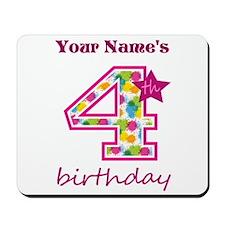 4th Birthday Splat - Personalized Mousepad
