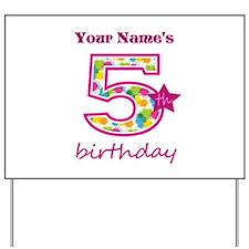 5th Birthday Splat - Personalized Yard Sign