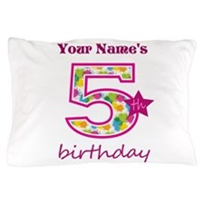 5th Birthday Splat - Personalized Pillow Case