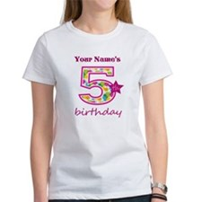 5th Birthday Splat - Personalized Tee