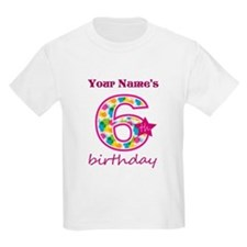 6th Birthday Splat - Personaliz T-Shirt