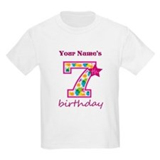 7th Birthday Splat - Personaliz T-Shirt