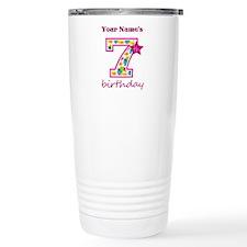 7th Birthday Splat - Pe Travel Mug