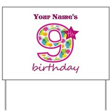 9th Birthday Splat - Personalized Yard Sign