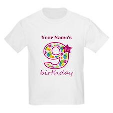 9th Birthday Splat - Personaliz T-Shirt