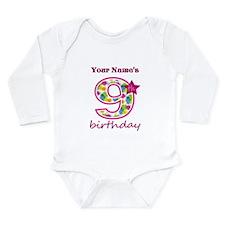 9th Birthday Splat - P Onesie Romper Suit