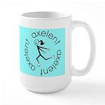 Figure Skating Axelent Large Mug