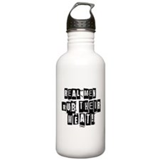 Real Men Rub Their Meat Water Bottle