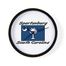 Spartanburg South Carolina Wall Clock