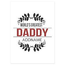 Custom Worlds Greatest Daddy 5x7 Flat Cards