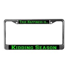 Goat Kidding Season License Plate Frame