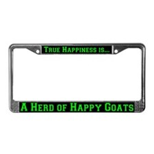 Happy Goats License Plate Frame
