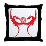 Masonic Red Dragons Throw Pillow