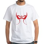 Masonic Red Dragons White T-Shirt