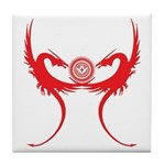 Masonic Red Dragons Tile Coaster