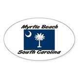 Myrtle Beach South Carolina Oval Decal