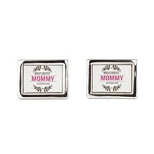 Custom Worlds Greatest Mommy Rectangular Cufflinks