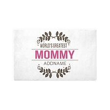 Custom Worlds Greatest Mommy Area Rug