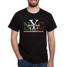 NYC Italian Style Black T-Shirt
