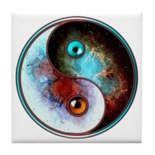 Cosmic Tao Tile Coaster