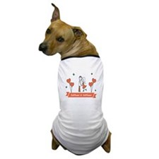 Personalized Names Couple Hearts Dog T-Shirt