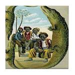 Alligator Hunters Tile Coaster