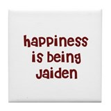happiness is being Jaiden Tile Coaster