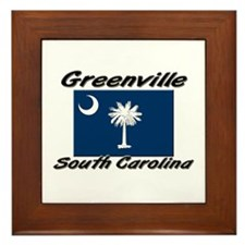 Greenville South Carolina Framed Tile