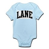 LANE (curve-black) Onesie