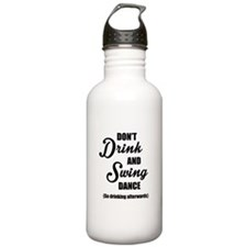 Don't Drink and Swing (black) Water Bottle