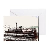 Old Steam Boat Cards (Pk of 10)